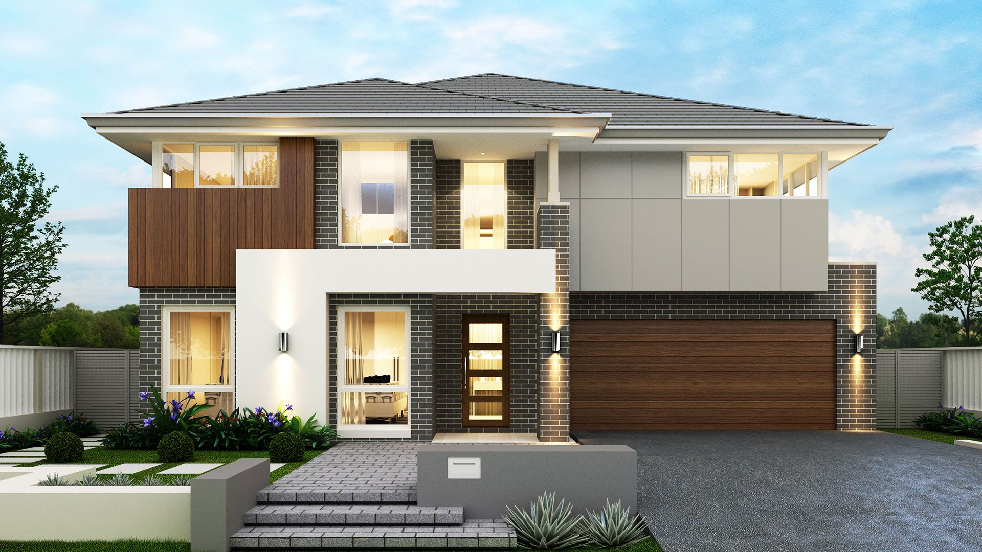 Hemisphere double storey fowler homes for Fowler home designs